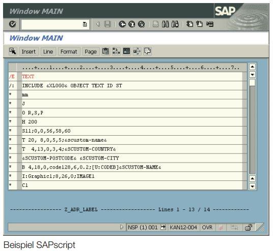 Etiketten aus SAP® heraus drucken