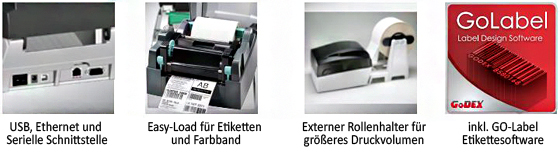 Godex G330 Etikettendrucker Vorteile
