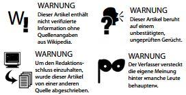 Journalismus-Warnzeichen zum kostenlosen Download