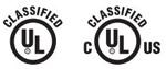 UL -Klassifizierung Siegel