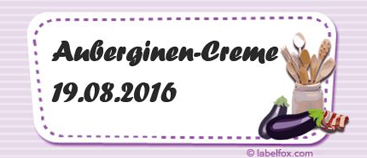 Auberginen-Etiketten mittel in 97 x 42.4 mm