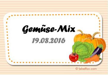 Gemüse-Mix Etiketten groß in 97 x 67.6 mm