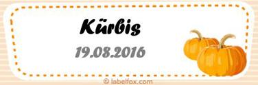 Kürbis-Etiketten klein in 99.1 x 33.9 mm
