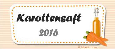 Karottensaft-Etiketten mittel in 97 x 42.4 mm
