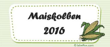 Maiskolben-Etiketten mittel in 97 x 42.4