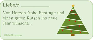 Etikettenvorlage Tannenbaum grün