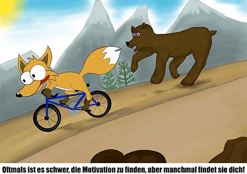 Fuchs motiviert