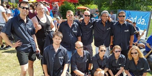 Labelident-Mitarbeiter bei Rotarian River Raft Race