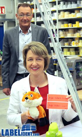 Frau Dr. Anja Weisgerber besucht Labelident GmbH