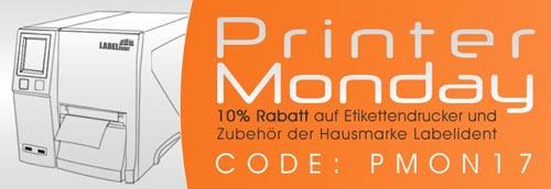 Label Monday 2017 bei Labelident.com - 10% Rabatt auf Drucker und Zubehör
