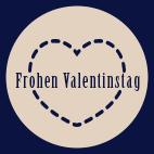 Valentinstag Etikett Aufdruck