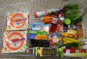 Lebensmittelkennzeichnung im Supermarkt