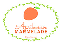 Etiketten Aprikosen Marmelade