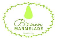 Etiketten Birnen Marmelade