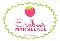Etiketten Erdbeer Marmelade