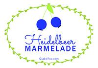 Etiketten Heidelbeer Marmelade