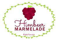 Etiketten Himbeer Marmelade
