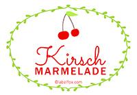 Etiketten Kirsch Marmelade