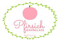 Etiketten Pfirsich Marmelade