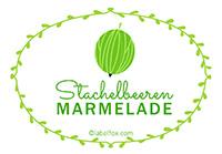 Etiketten Stachelbeer Marmelade