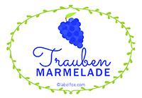 Etiketten Trauben Marmelade