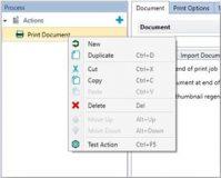 Screenshot, der zeigt wie man verschiedene Aktionen mit seinen Dokumenten ausführen kann. Zum Beispiel: copy, cut, new